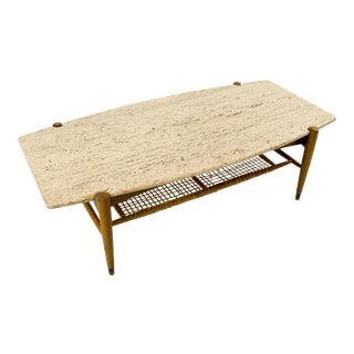 Dux Travertine Coffee Table For Sale