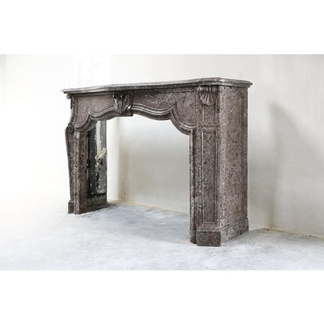 Louis XV Antique Marble Fireplace - 19th Century - Louis XV For Sale - Image 3 of 9