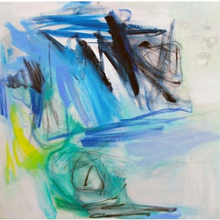 """Chasing Blue"" by Trixie Pitts Abstract Oil Painting For Sale"