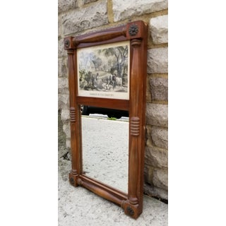 19th Century Federal Style Wooden Wall Mirror Preview