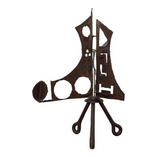 C. 1970 Abstract Brutalist Welded Steel Sculpture by John Livermore For Sale