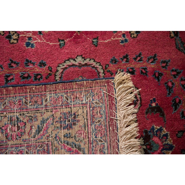 "Vintage Meshed Rug Runner - 3'4"" X 16'1"" For Sale - Image 10 of 13"
