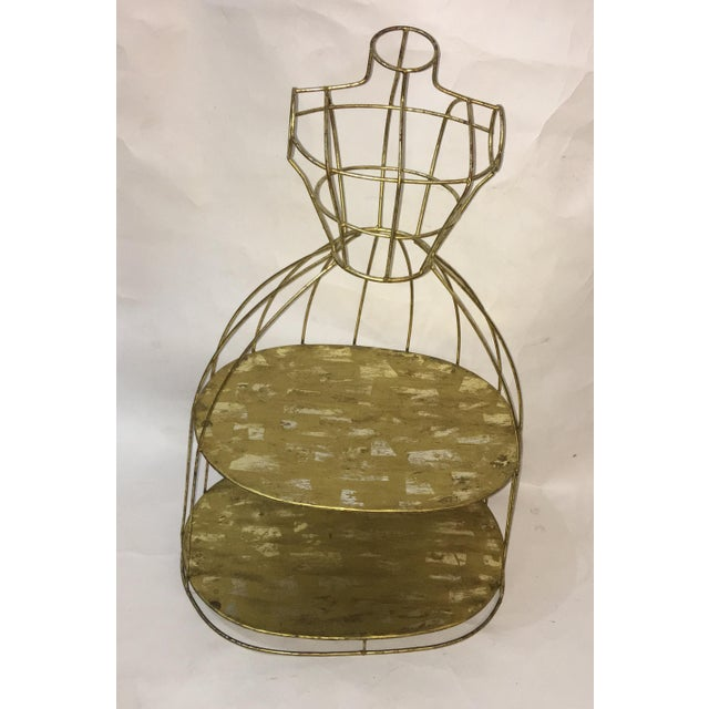1970s Vintage Wire Display Form & Shelves Decor For Sale - Image 5 of 5