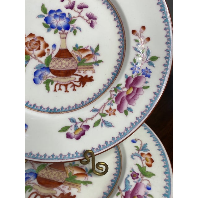 Chinoiserie Antique Cauldon Staffordshire Plates - Set of 12 For Sale - Image 3 of 6