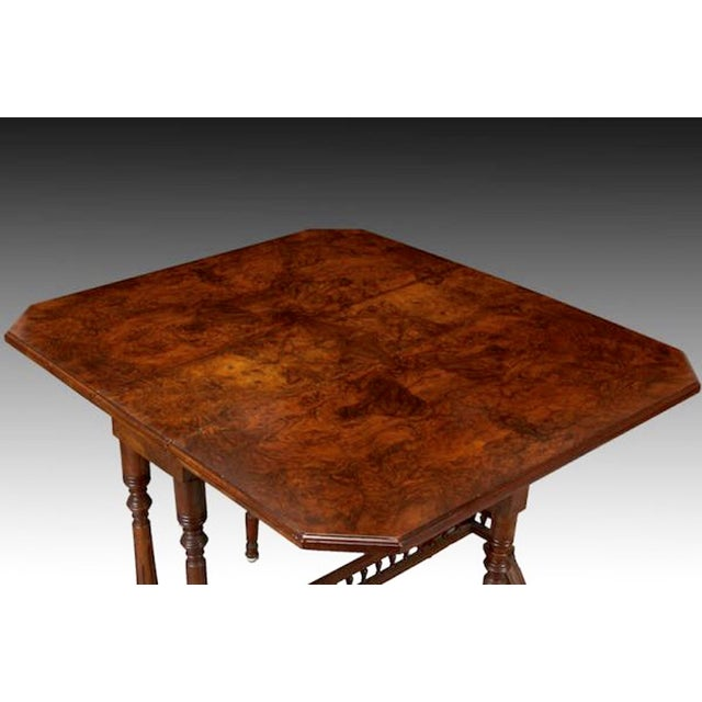 Belgian Walnut Drop-Leaf Table - Image 3 of 4