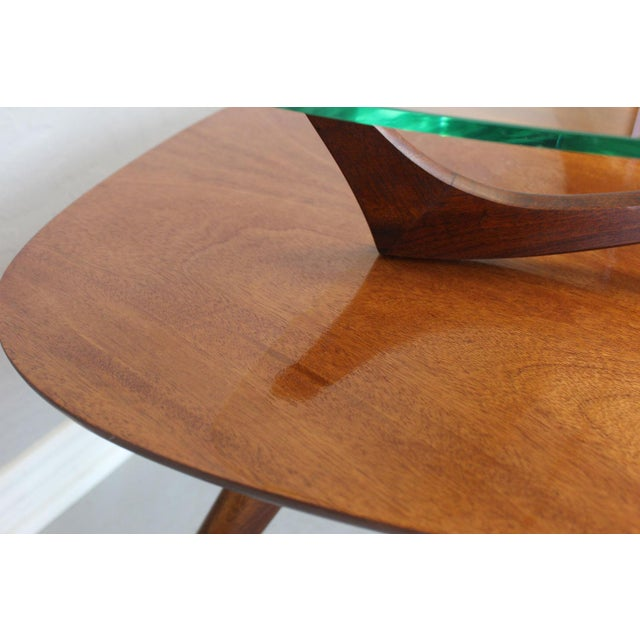 Danish Modern Vladimir Kagan-Style Two-Tier Side Table For Sale - Image 3 of 9