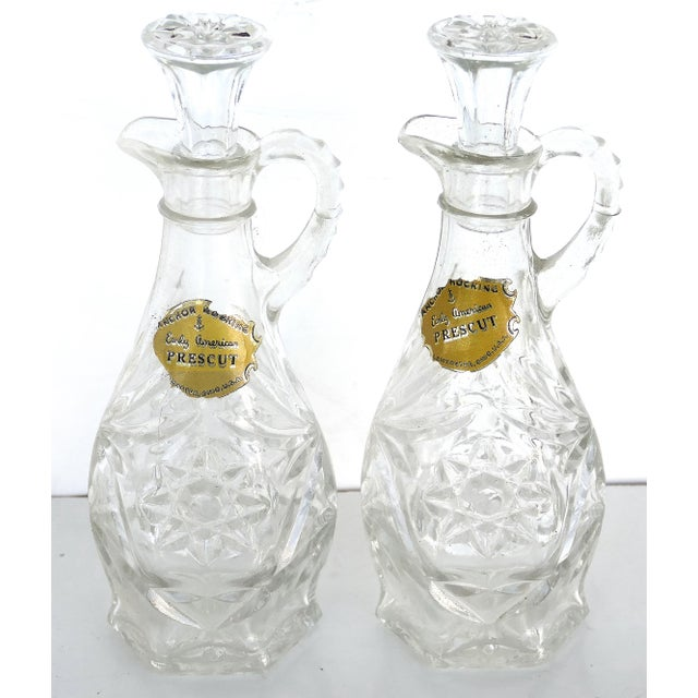 Red Anchor Hocking Prescut Early American Glass Serving Set-Set of 7 For Sale - Image 8 of 9