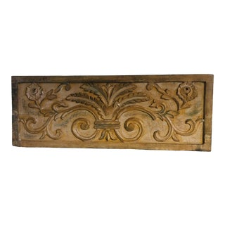Carved Wood Wall Hanging For Sale