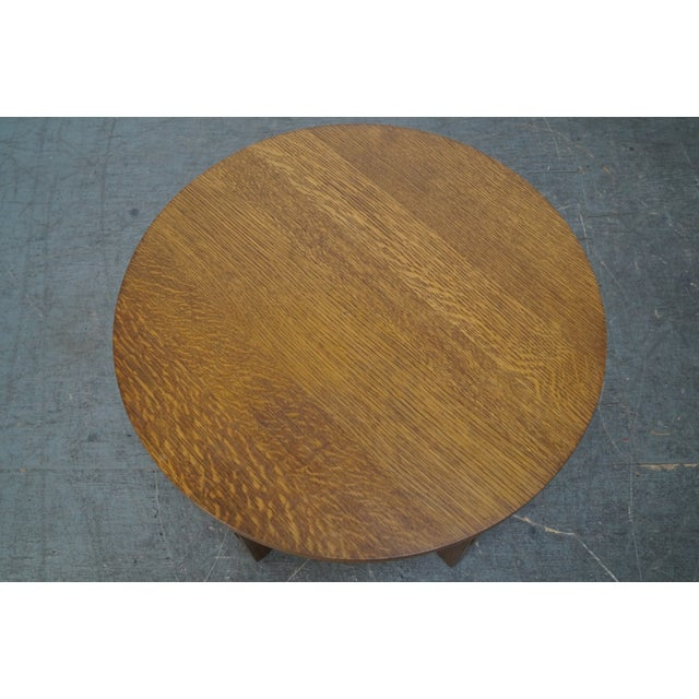 Stickley Mission Oak Side Table For Sale - Image 9 of 10
