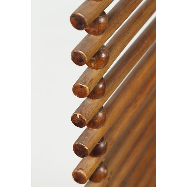 Mid Century Wood Stick & Ball Screen - Image 5 of 7