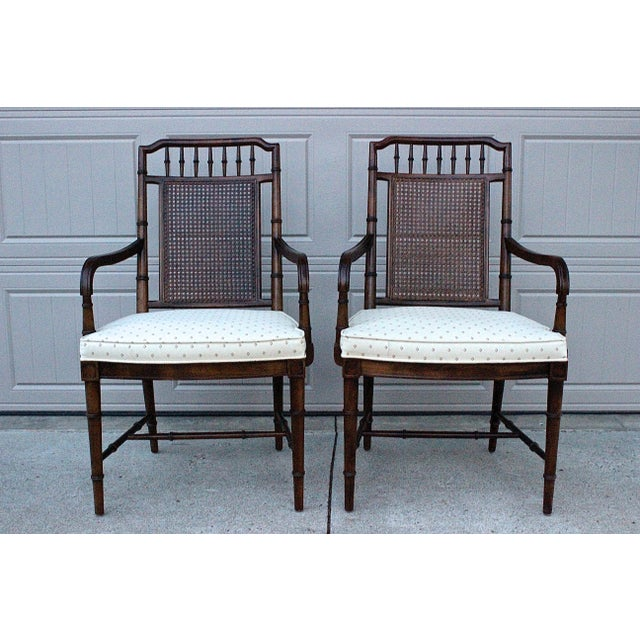 Century Furniture Faux Bamboo Dining Set For Sale - Image 10 of 13