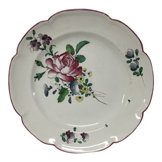 French No.3 Faience Plate For Sale