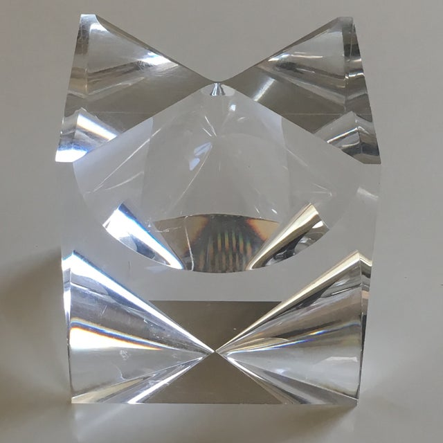 Acrylic 1960s Mid-Century Modern Alessio Tasca Lucite Cube Sculpture For Sale - Image 7 of 11