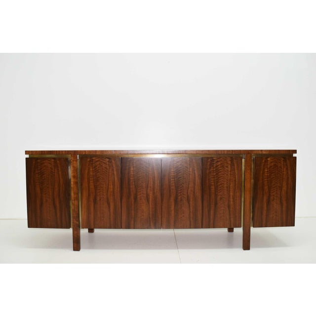 1960s 1960s Widdicomb Credenza or Sideboard in Walnut With Parquet Patterned Top For Sale - Image 5 of 13