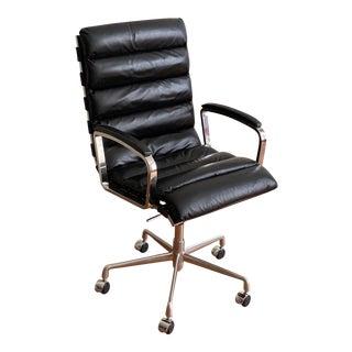 Modern Restoration Hardware Oviedo Leather Desk Chair For Sale