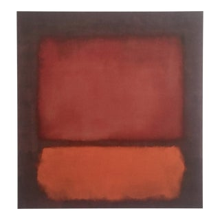 "Mark Rothko Abstract Expressionist Lithograph Print Poster ""Monochrome Brown"" 1962 For Sale"