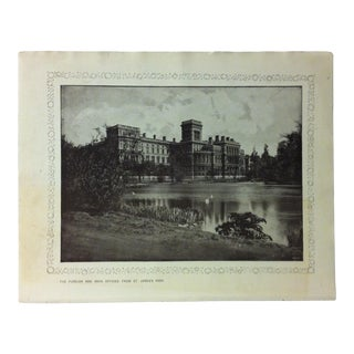 """1906 """"The Foreign and India Offices - From St. James's Park"""" Famous View of London Print For Sale"""