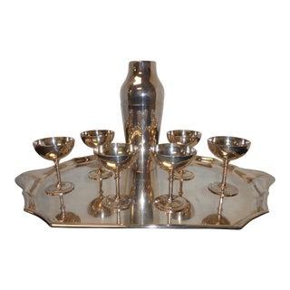 Vintage Christofle Silver Plate Martini Cocktail Set