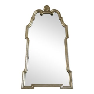 Large Mid Century Silver and Gold Gilted Mirror by LaBarge For Sale