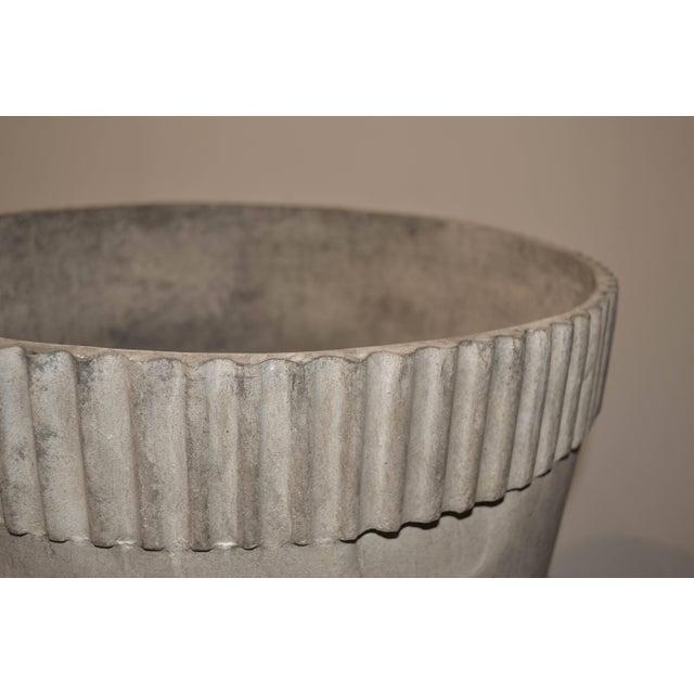 Mid-Century Modern Mid-Century Modern Cast Fiber Cement Planter For Sale - Image 3 of 7