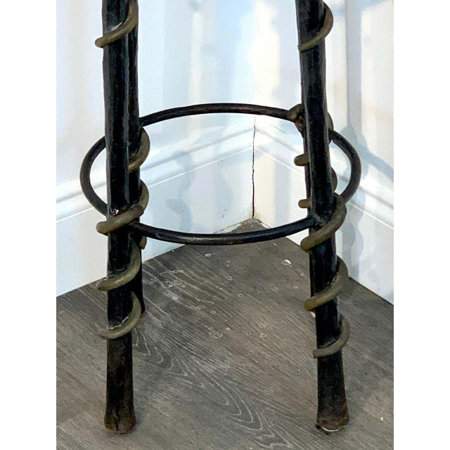 Mid 20th Century Cobra' Stools by Karl Springe - a Pair For Sale - Image 5 of 10