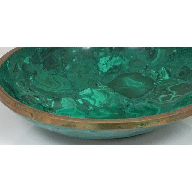 Modern Large Malachite Bowl For Sale - Image 3 of 7