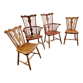 1950s Vintage Stickley Cherry Valley Dining Chairs - Set of 4 For Sale