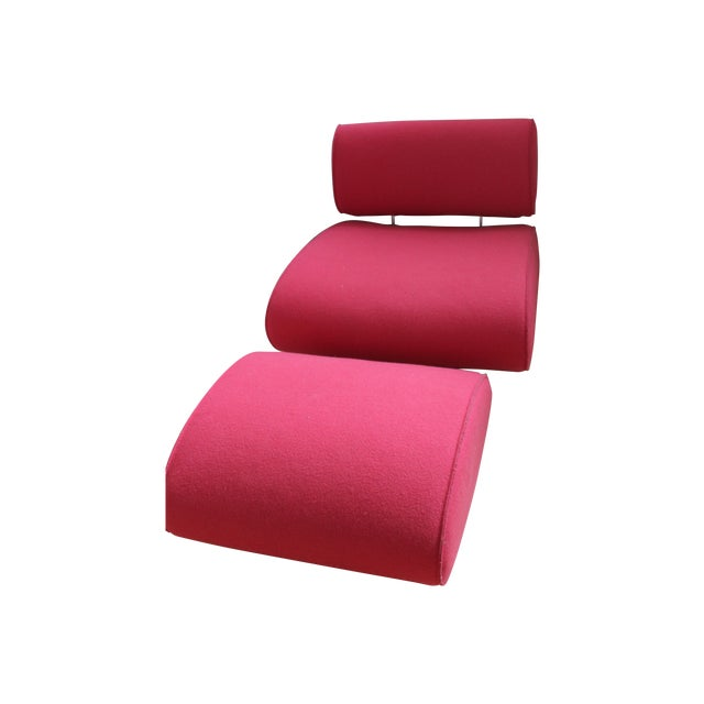 Paolo Lenti Chair And Ottoman - Image 1 of 4
