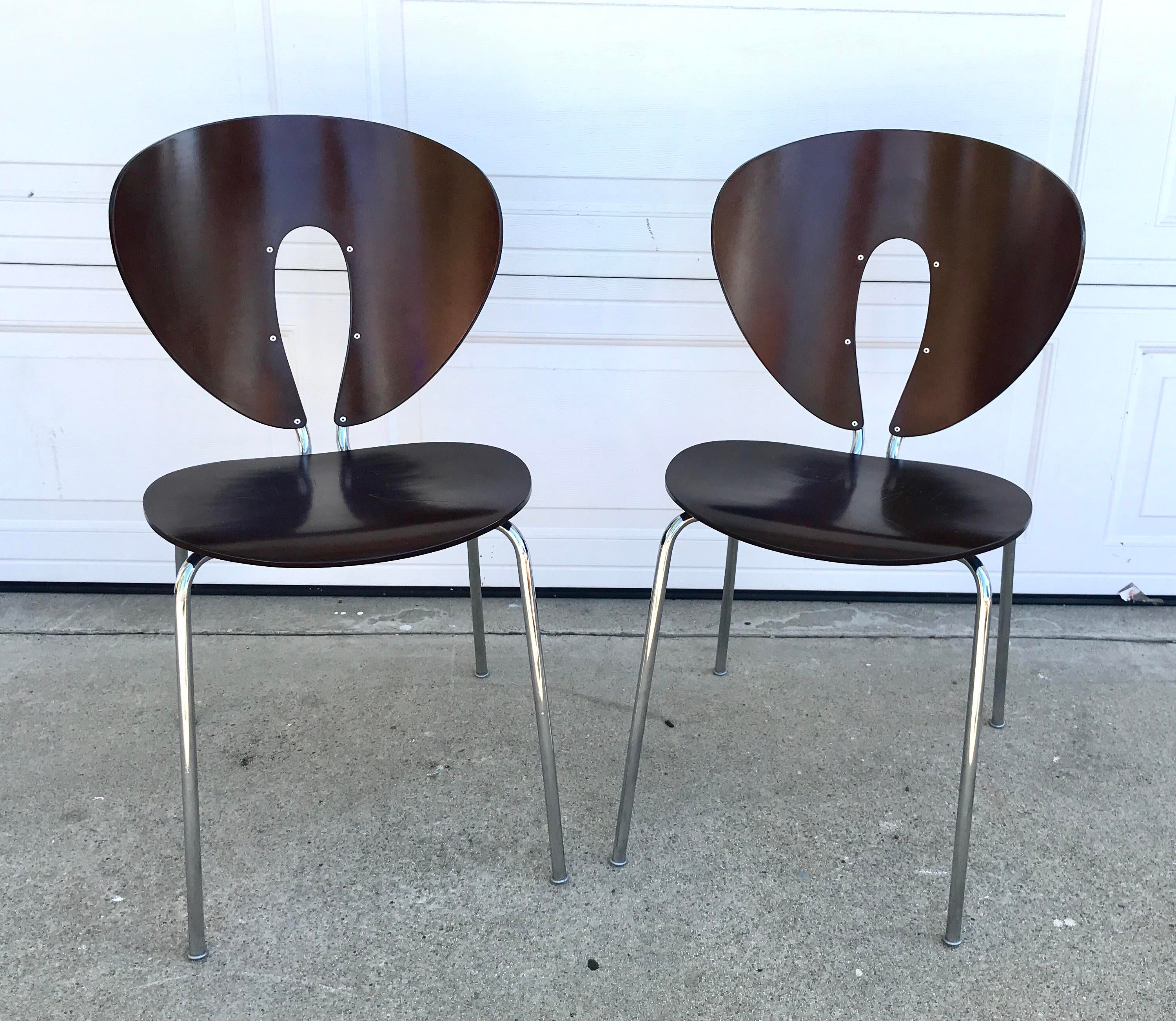 Affordable Jesus Gasca For Stua Brown Globus Chairs A Pair