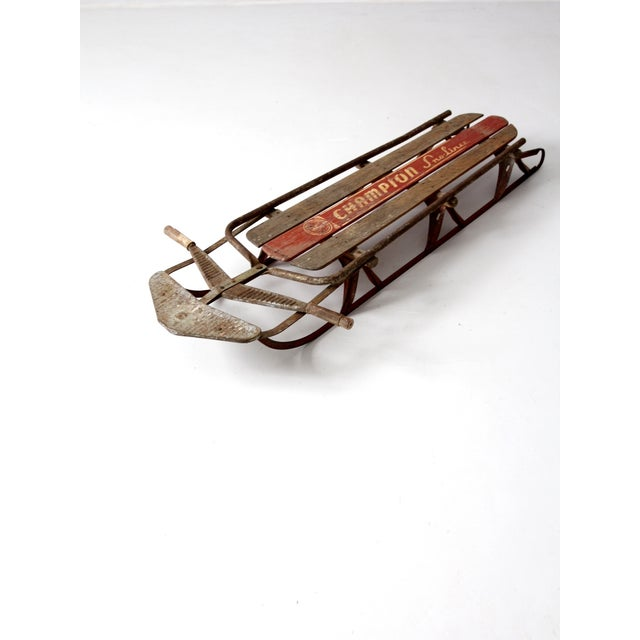 1950s Champion Sno-Liner Sled For Sale - Image 5 of 9
