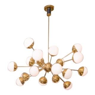 Vintage Brass and Large Bulb Sputnik Chandelier For Sale