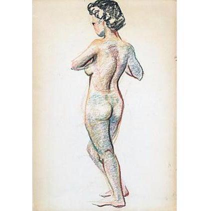 Pastel Nude Female Mid-Century Artist Study For Sale