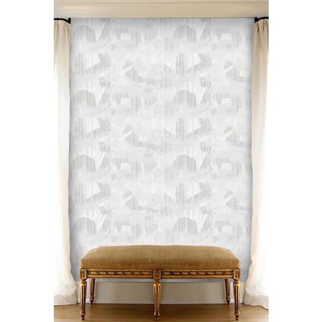 Angela Simeone Cloud Room Grey Wallpaper For Sale - Image 4 of 7