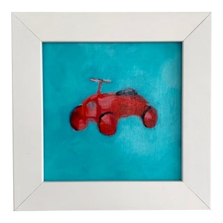 Minimalist Original Acrylic Painting of Toy Car For Sale