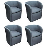 Image of Set of 4 John Saladino for Dunbar Chairs For Sale