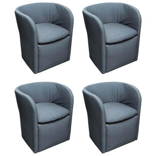 Set of 4 John Saladino for Dunbar Chairs For Sale