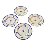 Image of 1960s Vintage Copeland Spode Gloucester Blue Luncheon Plates- Set of 4 For Sale