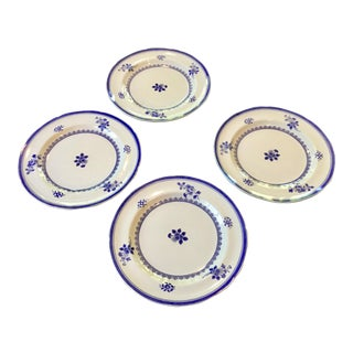 1960s Vintage Copeland Spode Gloucester Blue Luncheon Plates- Set of 4 For Sale