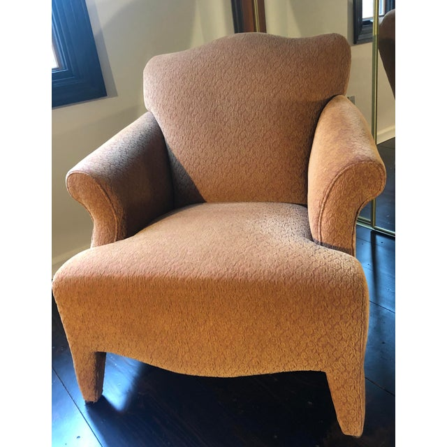 John Hutton 1990s Vintage John Hutton Style Club Chairs Pair For Sale - Image 4 of 13