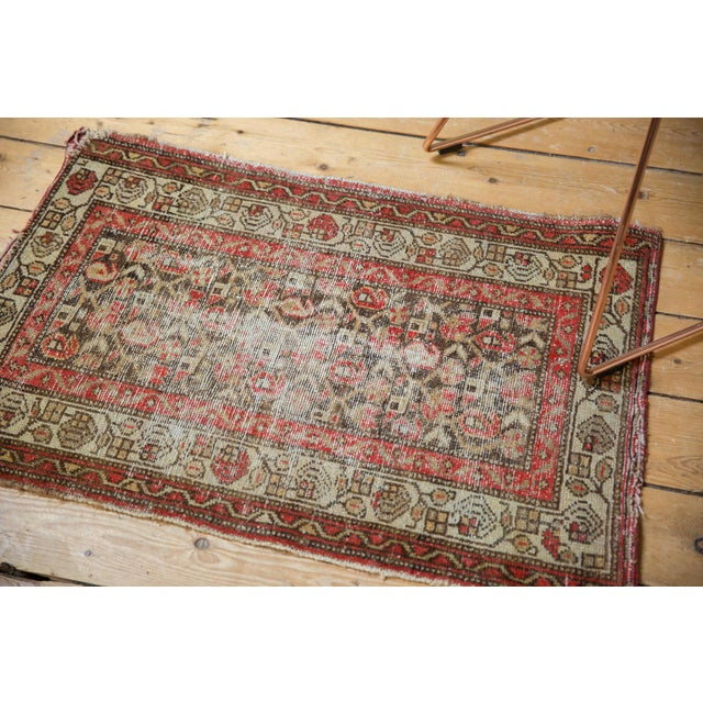 """Old New House Antique Hamadan Rug Mat - 2'2"""" X 3'2"""" For Sale - Image 4 of 11"""