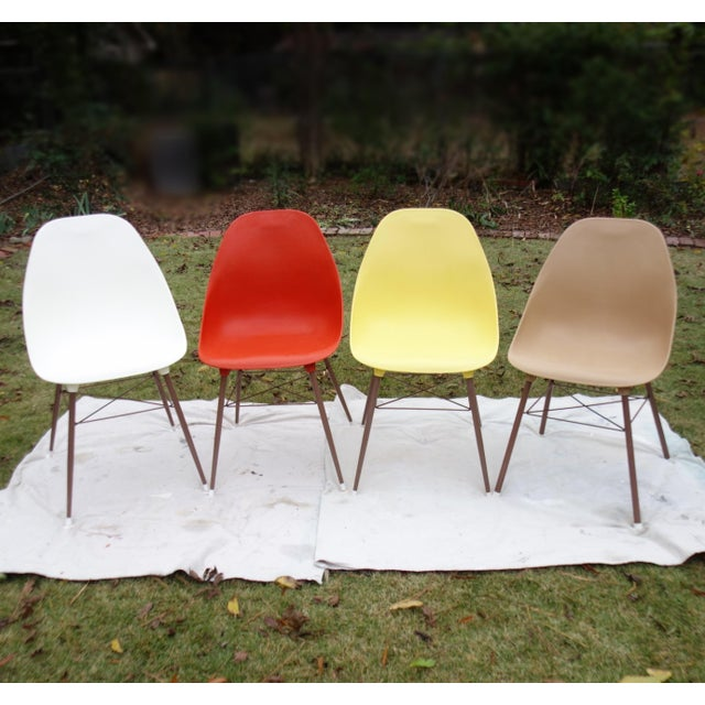 Vintage Sam Avedon Shell Dining Chairs - Set of 4 - Image 2 of 8