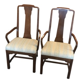 Early 20th Century Mahogany Arm Chairs- A Pair For Sale