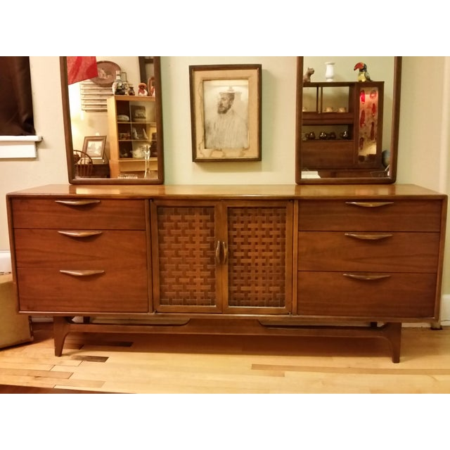 "Warren Church for Lane ""Perception "" Dresser With Mirrors - Image 3 of 9"