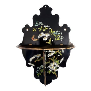 19th Century Chinoiserie Papier Mache Wall Shelf For Sale