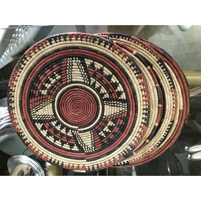 Handmade African Placemats, 7 Set For Sale In Miami - Image 6 of 6