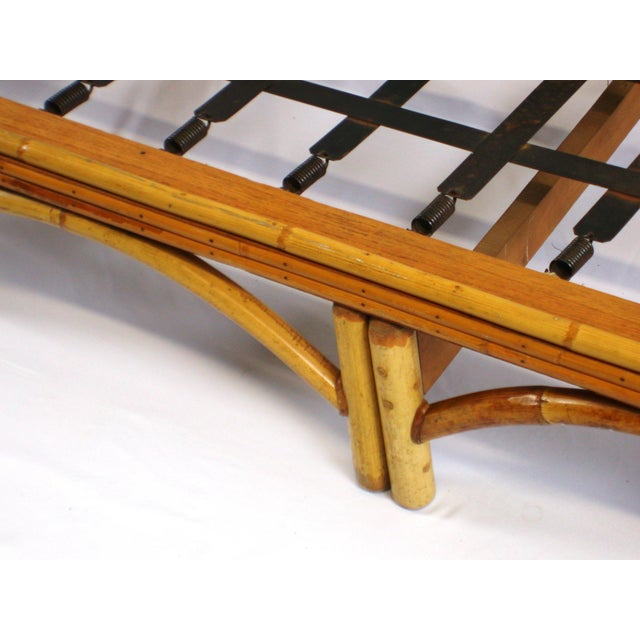 C 1950 Fitz & Reed Style Rattan Bamboo Sofa For Sale In San Francisco - Image 6 of 6