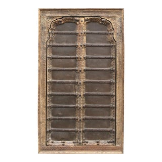 Rustic Iron Strap Mandawa Door For Sale
