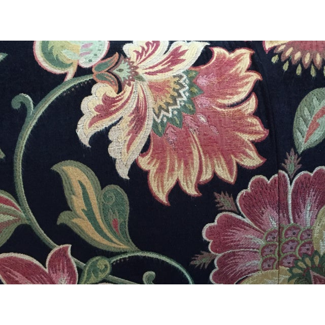 Gorgeous Chippendale-Style Black and Rose Tapestry Camel-Back Couch - Image 7 of 7