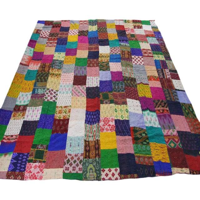 Silk Kantha Quilt | Bedspread - Image 2 of 3