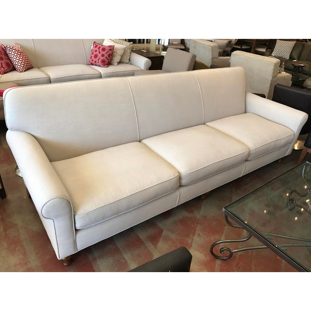 Modern Custom Ivory Sofa - Image 2 of 5